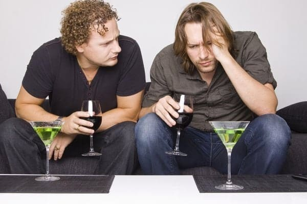 Two guys thinking how long will alcohol stay in their system