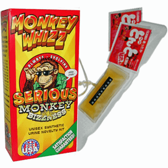 Monkey Whizz synthetic urine belt kit
