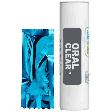 Clear Choice saliva neutralizing gum