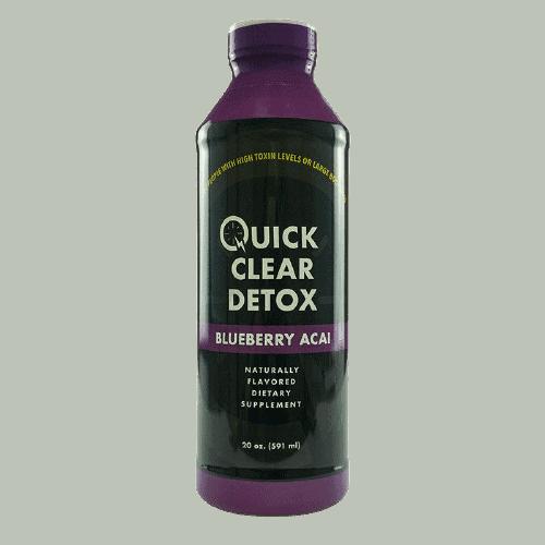 Quick Clear detox drink bottle